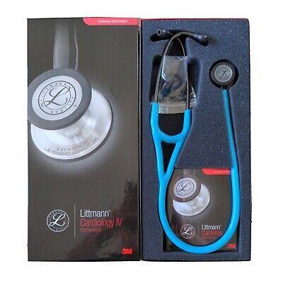 3m Littmann Cardiology Iv Stethoscope 27in Turquoise Tube Smoke Finish 6171