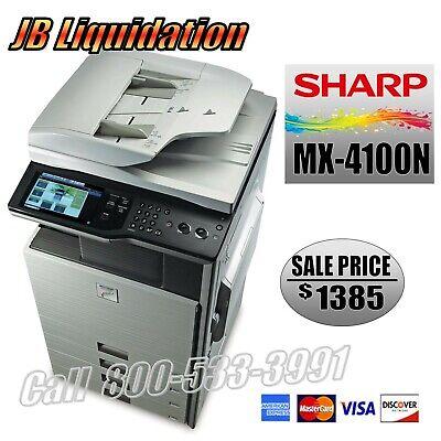 Sharp Mx-4100n Commercial Color Office Copier Network Printer Scanner
