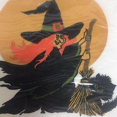 Vintage 20 Hallmark Halloween Napkins NEW UNOPENED Witch Broom Moon Black Cat