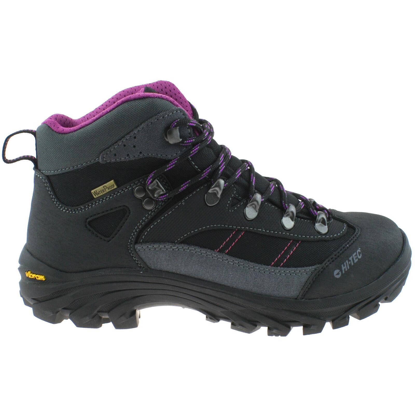 New Mens Hi-Tec Eurotrek Lite Waterproof Leather Walking Boots UK 6-13 Brown