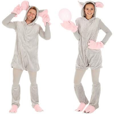 Maus Mäuse Kostüm Frauen Männer Karneval Fasching Halloween grau Spitzmaus ()