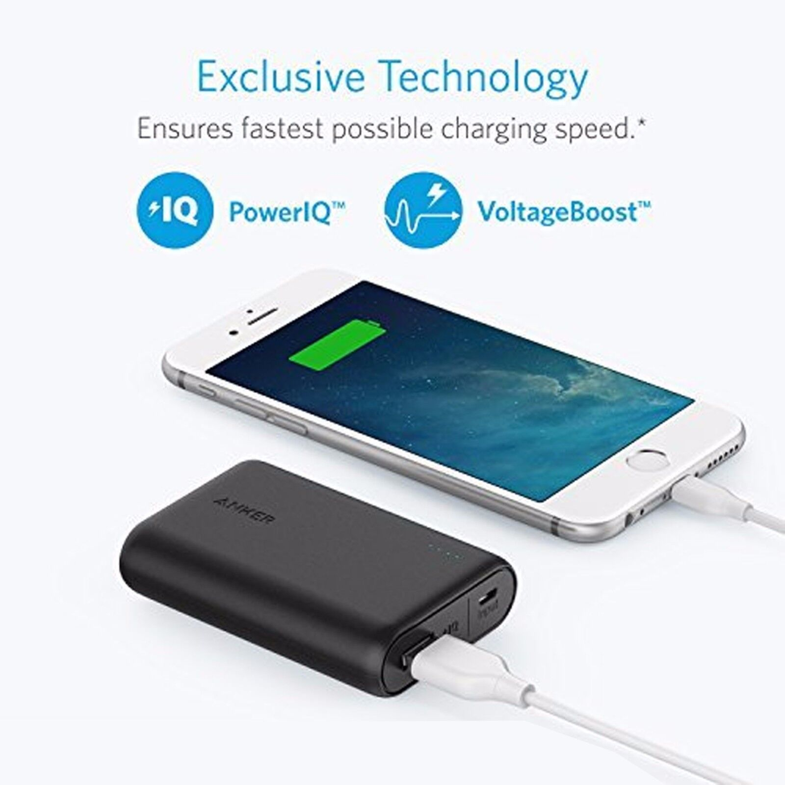 Anker 10000 USB Rechargeable Power Bank Charging Portable Ba
