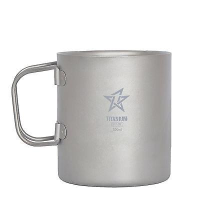 Double Wall Titanium Mug / Cup 300 ML and FREE Titanium Dog tag ()