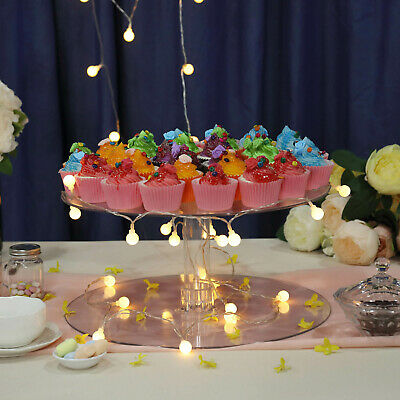 "16"" ACRYLIC Clear CAKE STAND Wedding Birthday Party Display Cake Tower SALE"