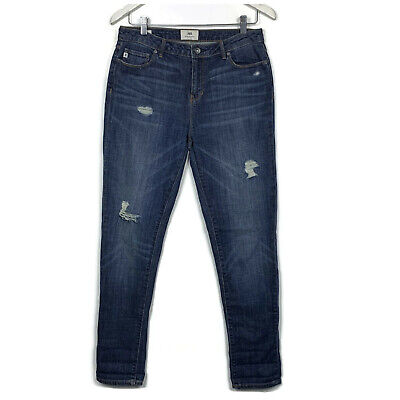 Jag Womens Jeans Size 8 Blue Distressed The Charlie Slim Slouch Boyfriend Denim