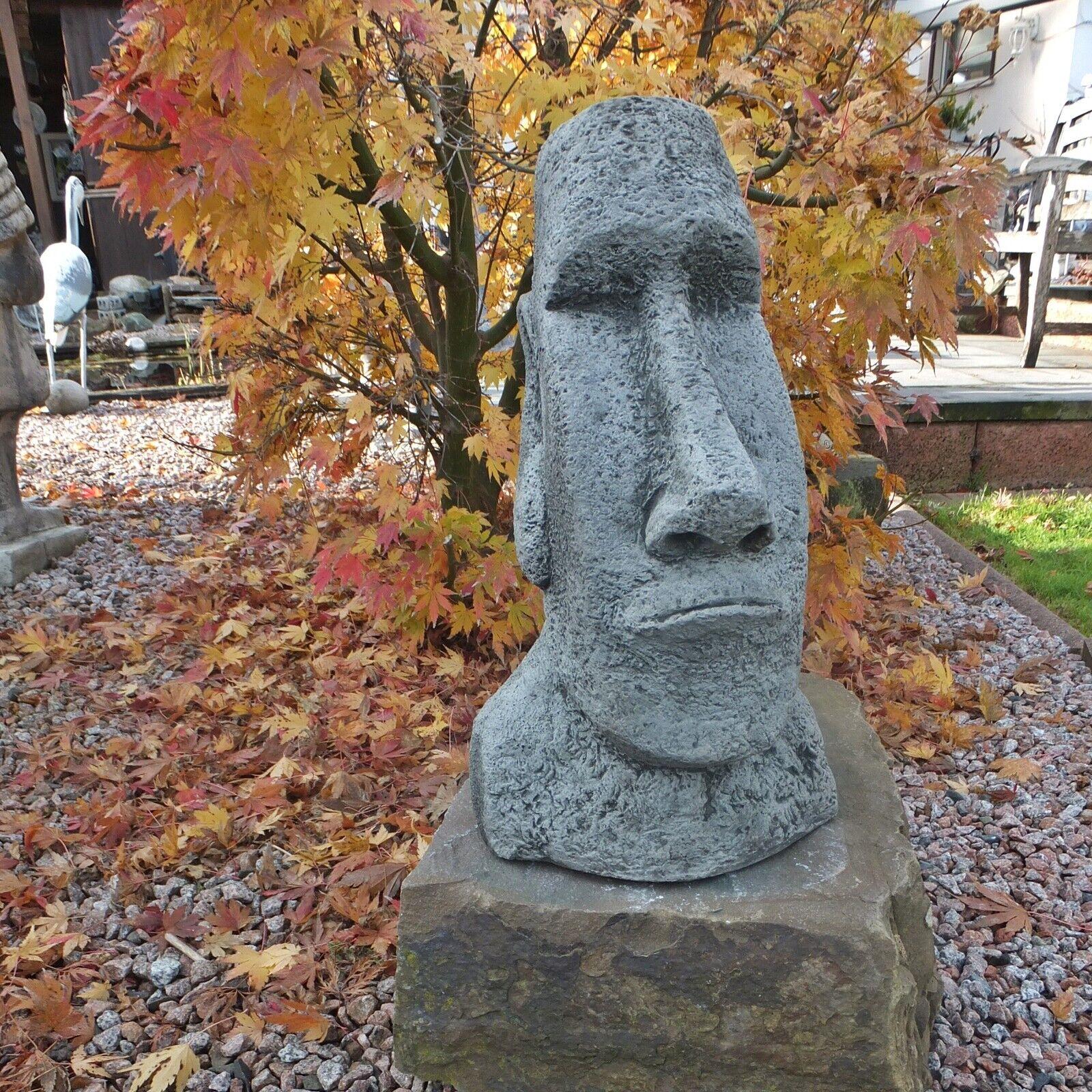 Steinfigur Katze Nappy ruhend Frostfest Gartenfigur Deco Steinguss Gartendeco