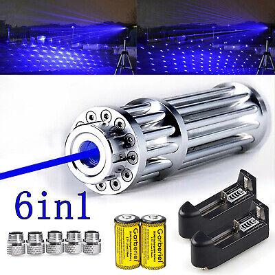 1000mile 405nm Blue Laser Pointer Visible Beam Light Laser Flashlight W 5 Caps