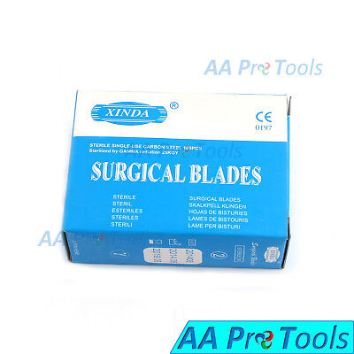 Aa Pro Box Of 100 No.22 Surgical Scalpel Blades Sterile Carbon Steel