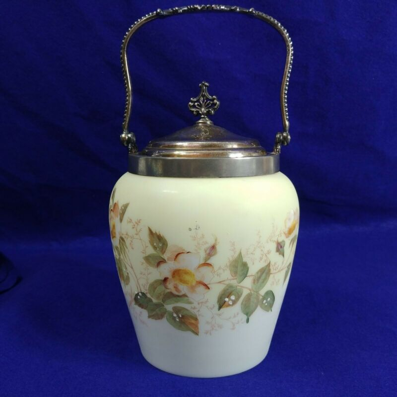Mount Washington Pairpoint Biscuit Cracker Jar Quad Silver Plated