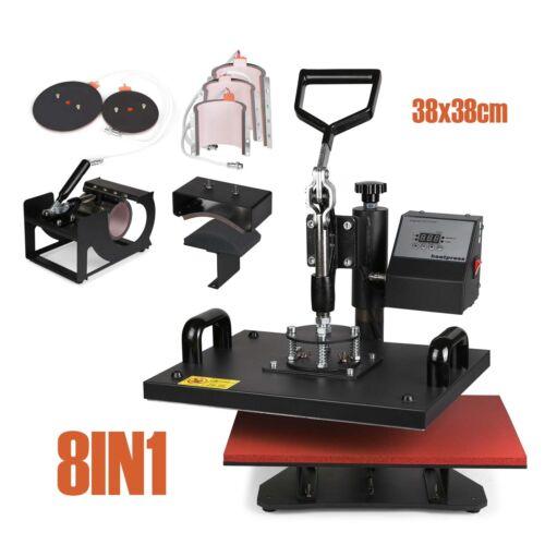 8IN1 38x38cm SWING AWAY Heat Press Machine (CAP,PLATE,MUG,T-SHIRT)GOOD first
