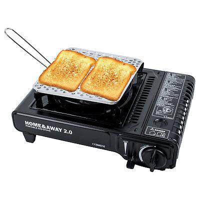 Brigth Spark® Camping Toaster, Edelstahl, faltbar 20x20cm 200g für Benzinkocher