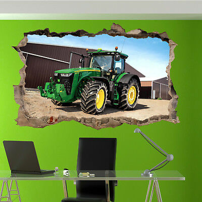 Farm Home Decor (FARM POWERFUL TRACTORS WALL STICKERS 3D ART MURALS PICTURE OFFICE HOME DECOR UQ3)