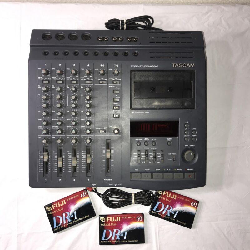 Tascam Portastudio 424MKII Multitrack Cassette Tape Recorder 4 Track Analog