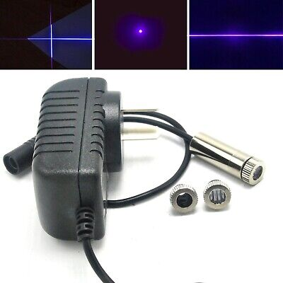 3in1 Dot Line Cross 405nm 20mw Violetblue Focusable Laser Diode Module Adapter