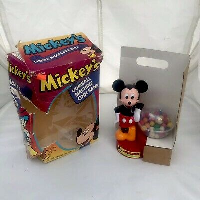 Superior Vintage Disney Mickey Mouse Gumball Machine Bank