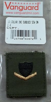 US Coast Guard Petty Officer 3rd Class Subdued Cloth Rank Insignia - New Pair Coast Guard Officer Rank