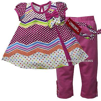 Gymboree Baby Girls Shirt legging Matching Headband Size 3 6 9 12 18 24 months