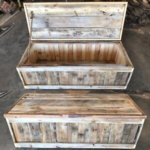 5 x 2 Foot Reclaimed Rustic Wood Chest / Coffee Table w/Storage