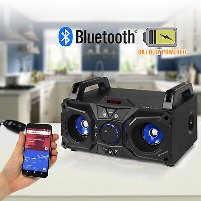 Portable Bluetooth Party Speaker Boombox with Built-in Battery USB MP3 100w