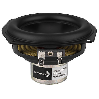 "Dayton Audio ND105-4 4"" Aluminum Cone Midbass Driver 4 Ohm"