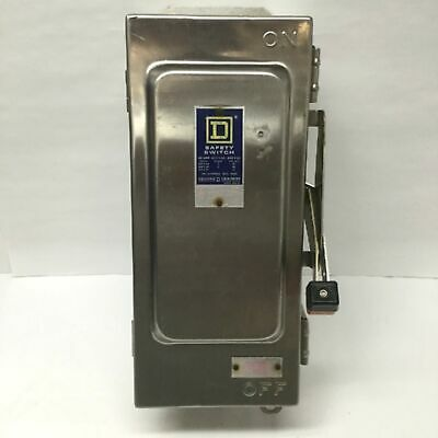 Square D Hu361dsei Series E1 Enclosed Safety Disconnect Switch 3-pole 600v 30a