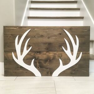 New handmade deer antler decor sign