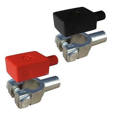 2 x Crimp Battery Terminals 11mm & Positive Negative Covers for 35 - 50mm² Cable - Batterie Terminal Crimper