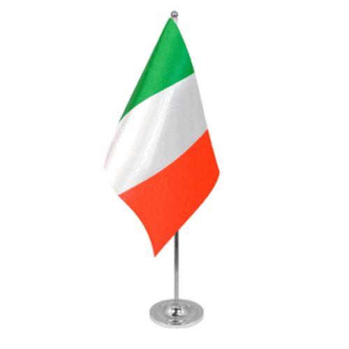 Italy Satin & Chrome Premium Table Flag