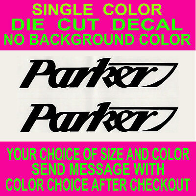 (2x)-Parker Boats Die Cut Vinyl Decal Truck Window Boat Sticker Reproduction