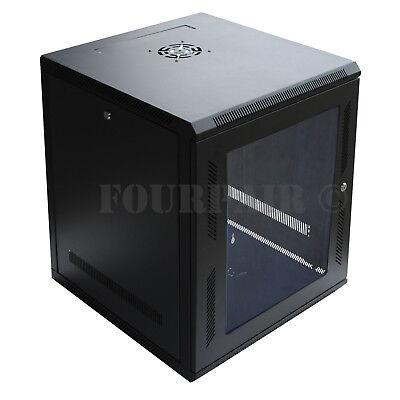 "12U IT Wall Mount Network Server Data Cabinet Rack Locking Lock & Key - 24"" Deep comprar usado  Enviando para Brazil"