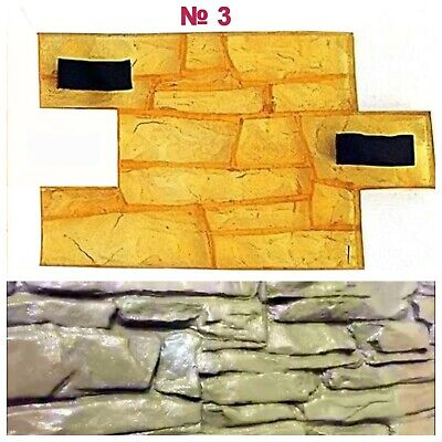 Concrete Texture Vertical Printing Stone Decorativ Stamp Mat Polyurethane Hip3