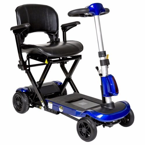 Drive Blue Electronically Self-folding 4 Wheel Mobility Scooter, 300 Lb Capacity