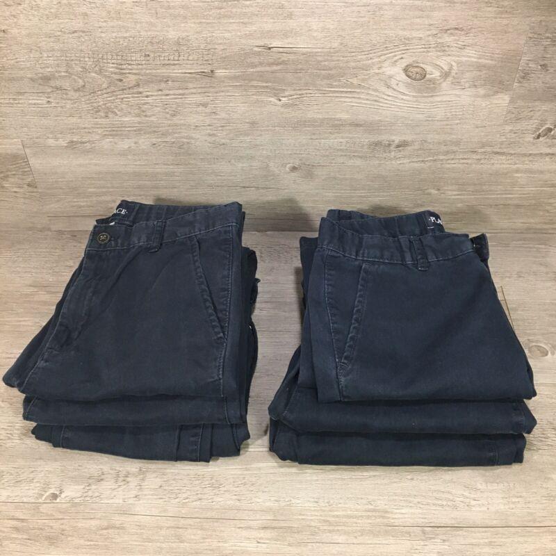 Lot of Boys SLIM 16 & 18 Navy Blue Uniform Pants Children's Place Adjustable