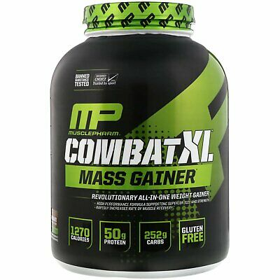 MusclePharm Combat XL Mass Gainer Powder, Chocolate, 6 Pound
