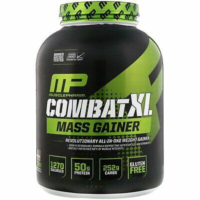 MusclePharm Combat XL Mass Gainer Powder, Chocolate, 6 Pound