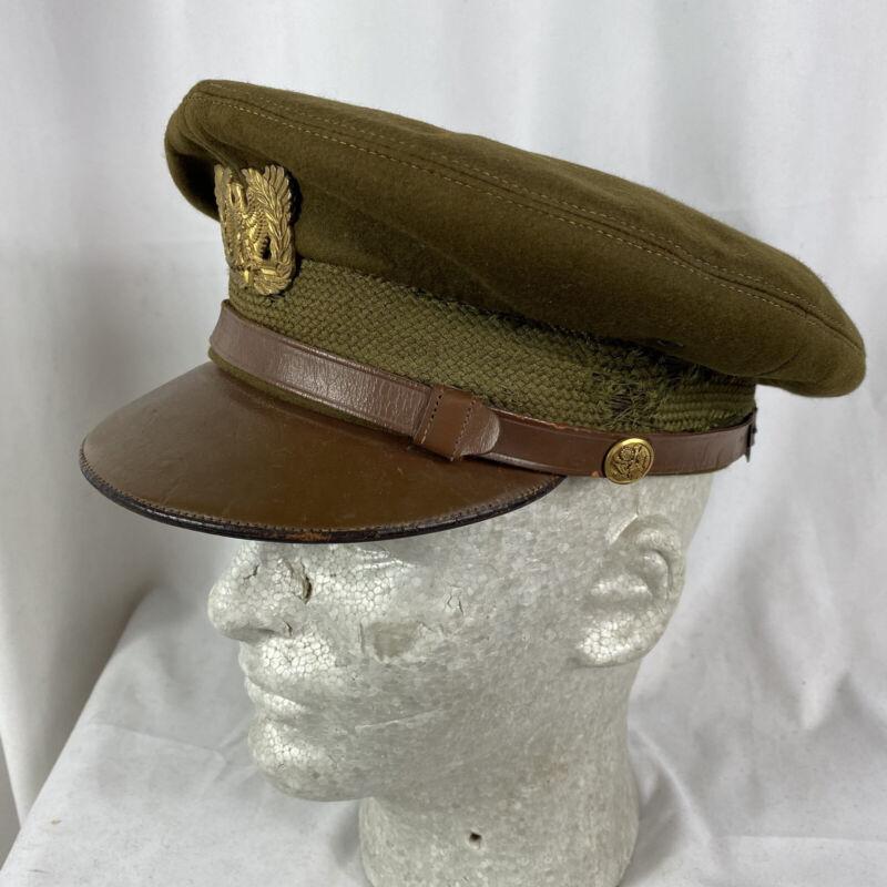 Original Dobbs Wwii US Army Warrant Officer Visor Hat Cap