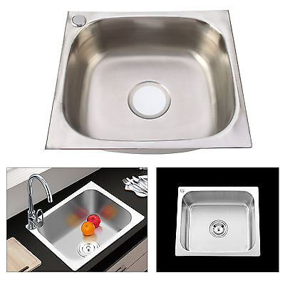 lavello lavandino lavabo per cucina quadrato in acciaio inossidabile con