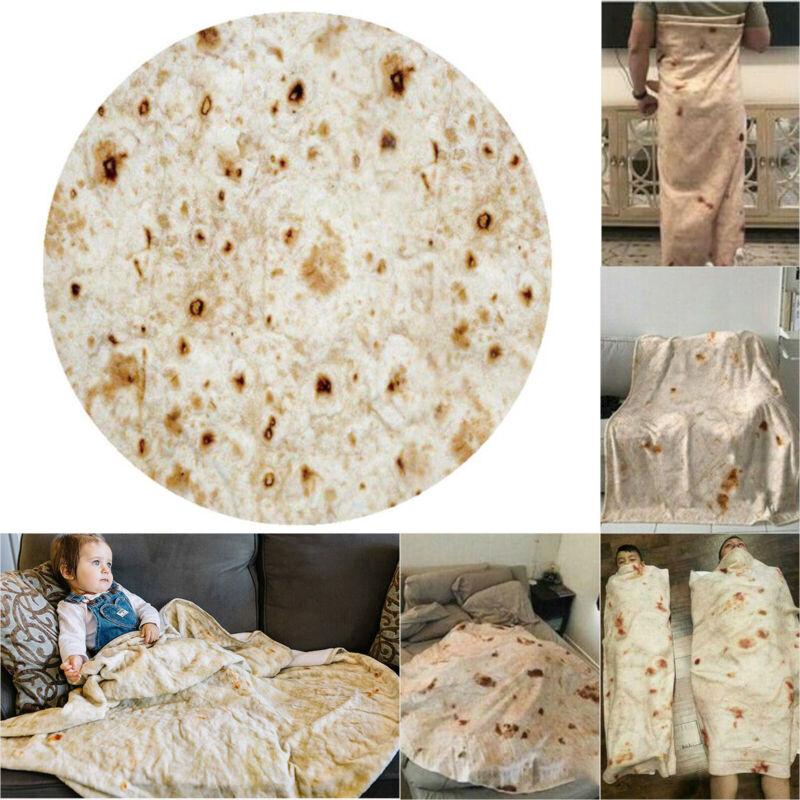 Blanket Flour Tortilla Swaddle Burrito Pancake Throw Bedroom