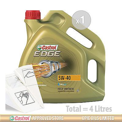 Engine Oil Service Kit: 4 litres of Castrol EDGE TITANIUM 5w40 FST