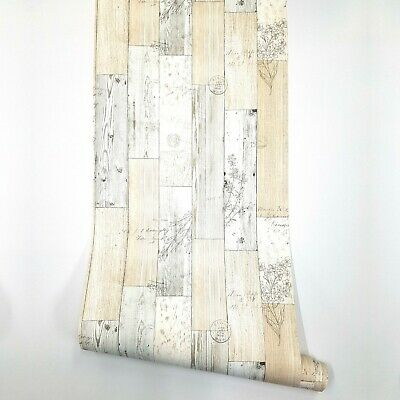 Wood Panel Pattern Vintage Wallpaper Peel and Stick Wall Covering