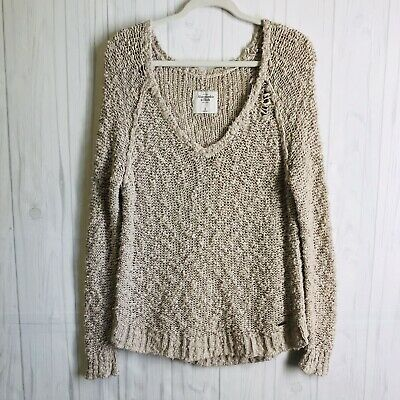 Abercrombie & Fitch Cozy Oversized Knitted Knotty Sweater Pullover Sweater SZ S for sale  Loxahatchee
