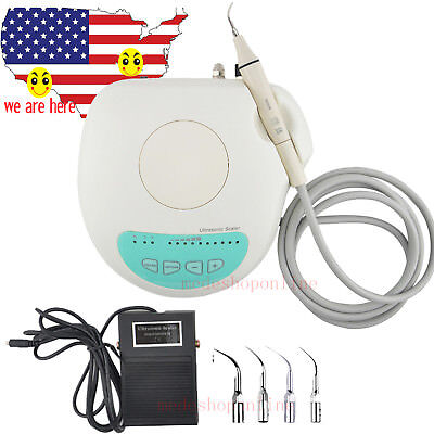 Us Stock Portable Dental Piezo Ultrasonic Scaler W Handpiece Fit Ems For Dentist