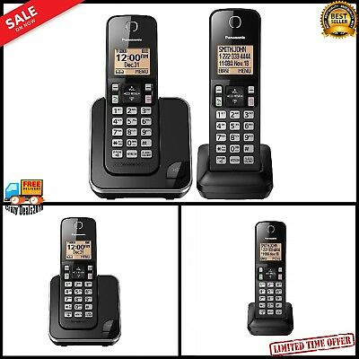 Panasonic Digital Cordless Phone Home Office Telephone Caller ID 2 Handsets