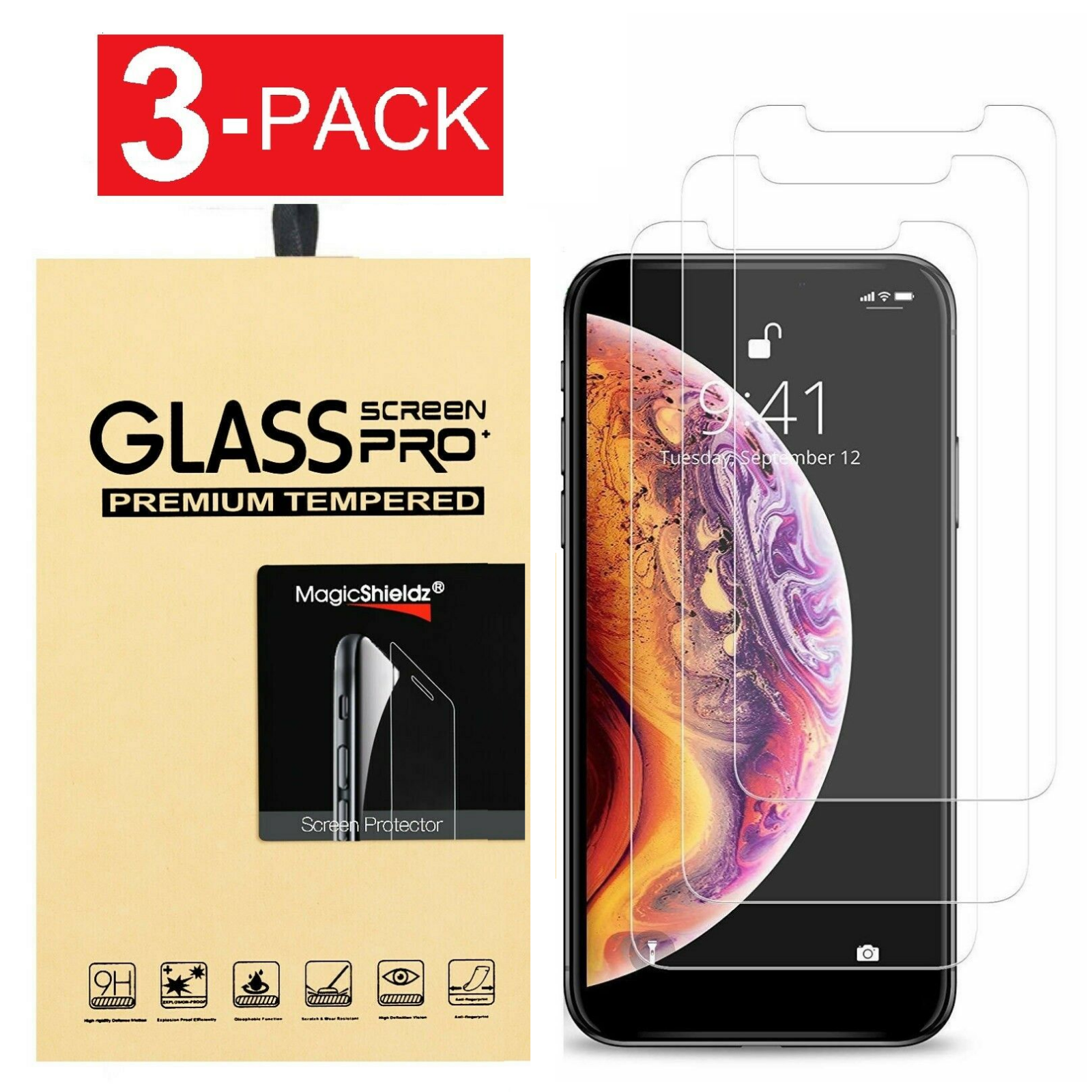 Screen Protector Tempered Glass For iPhone SE 5 6 7 8 Plus X