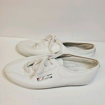 LA Gear Vintage 90's White Lace Up Sneakers Size 6