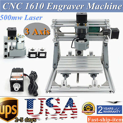 Diy Cnc 1610 Mini Mill Engraving Machine Cnc Router Kit Usb500mw Laser Pcb Wood