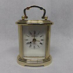 Howard Miller Brass Carriage Desk Mantle Alarm Clock Quartz 4RE933