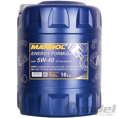 [3,69€/L] 10 Liter SAE 5W-40 MANNOL ENERGY FORMULA PD MOTORÖL VW 502.00/505.01