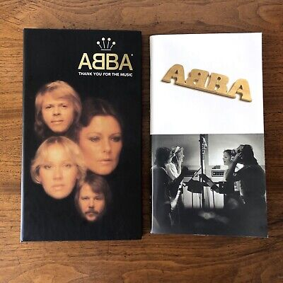 ABBA ~ THANK YOU FOR THE MUSIC ~ 4 CD BOX SET, LONG BOX WITH BOOK & INSERT 1994