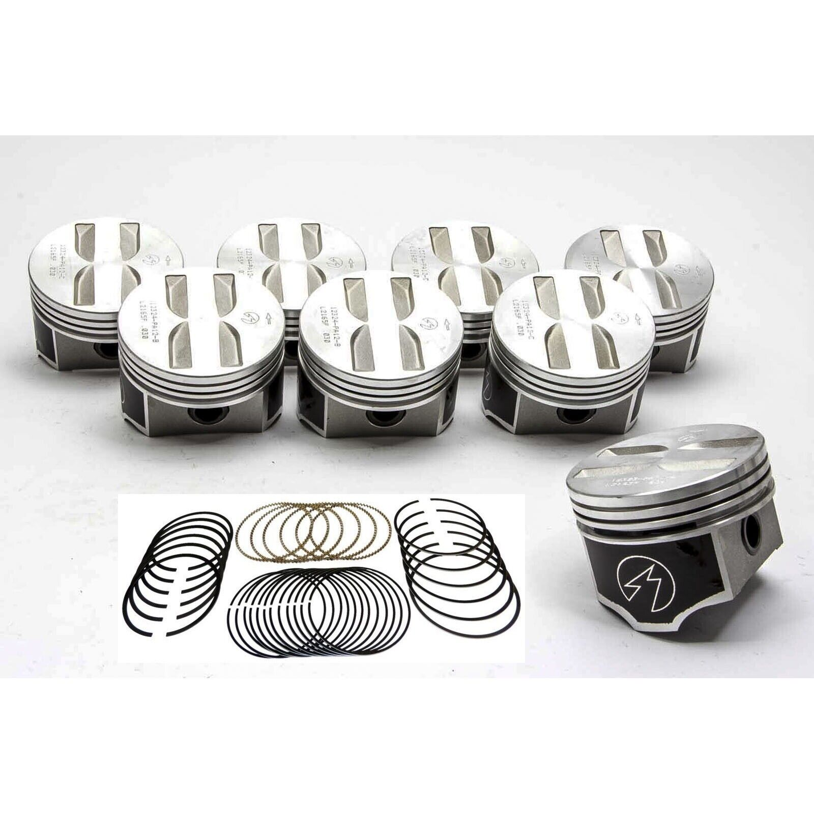 Speed Pro/TRW Chevy 327 Forged Flat Top Coated Pistons+MOLY